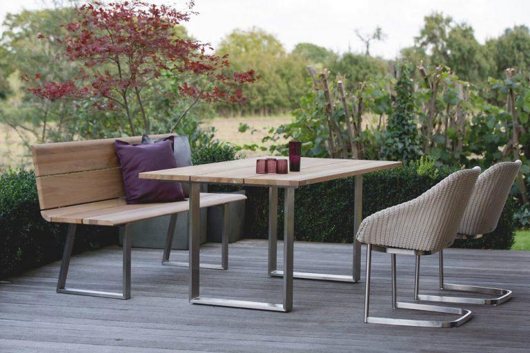 Gartenbank und Tisch NOVA