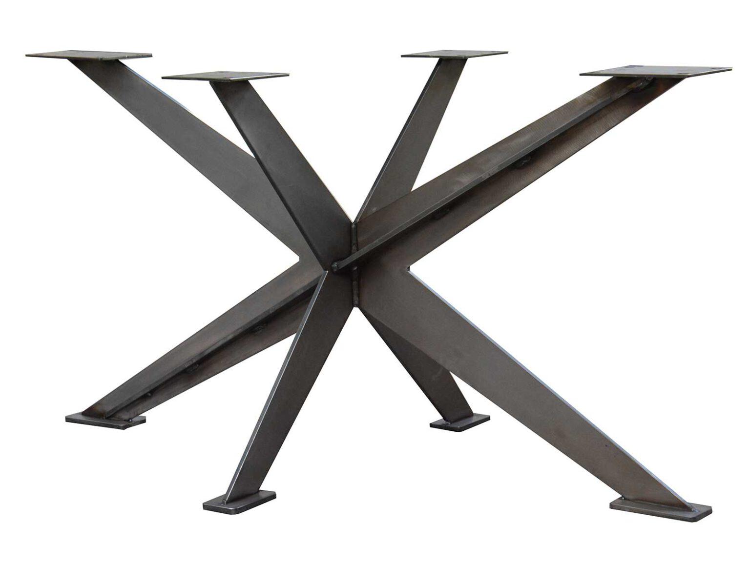 Tisch-Untergestell Spider aus lasergeschnittenem Metall