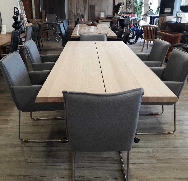 Tischplatte BRÜSSEL Eiche neu, unbehandelt