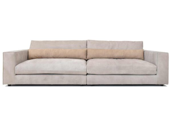 Sofa Venice aus hellgrauem Leder von Sliwinski